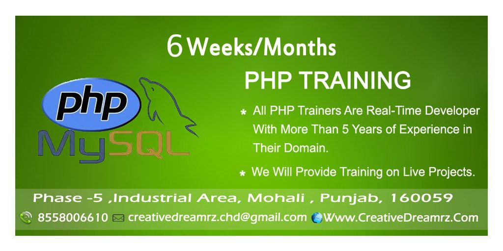 Creative Dreamrz Provides The Six Weeks Six Months Web Development Training In The Php Technology Call 8558006610 Http Development Programming Classes Train
