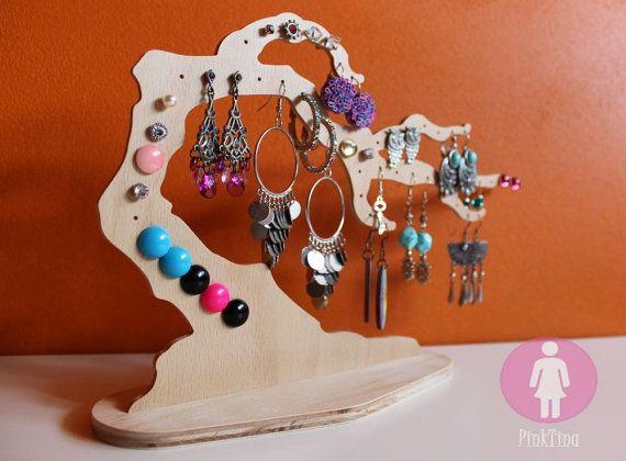Original Bonsai Tree Jewelry Wooden Stand _ Jewelry by PinkTina