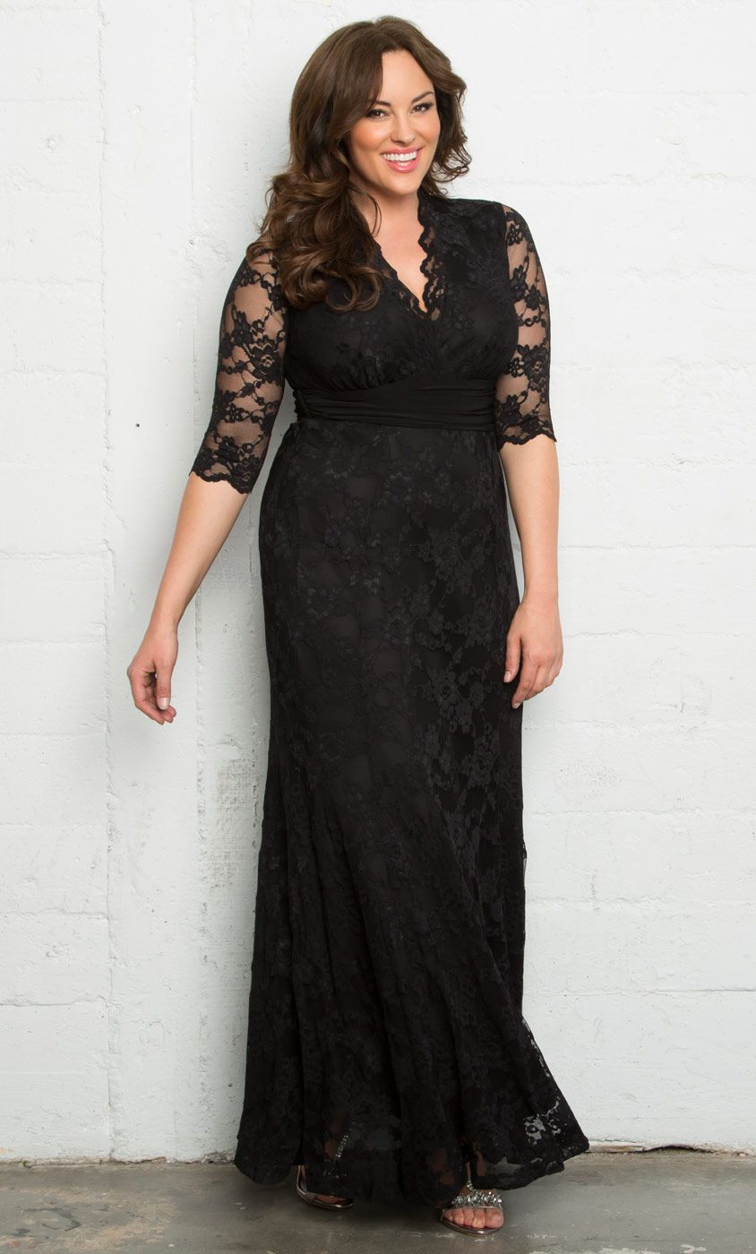 f31e2fb331d81 Check out the deal on Screen Siren Lace Gown at Kiyonna Clothing
