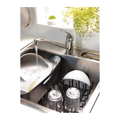 BOHOLMEN Dish drainer and flatware basket - IKEA | Downsizing ...