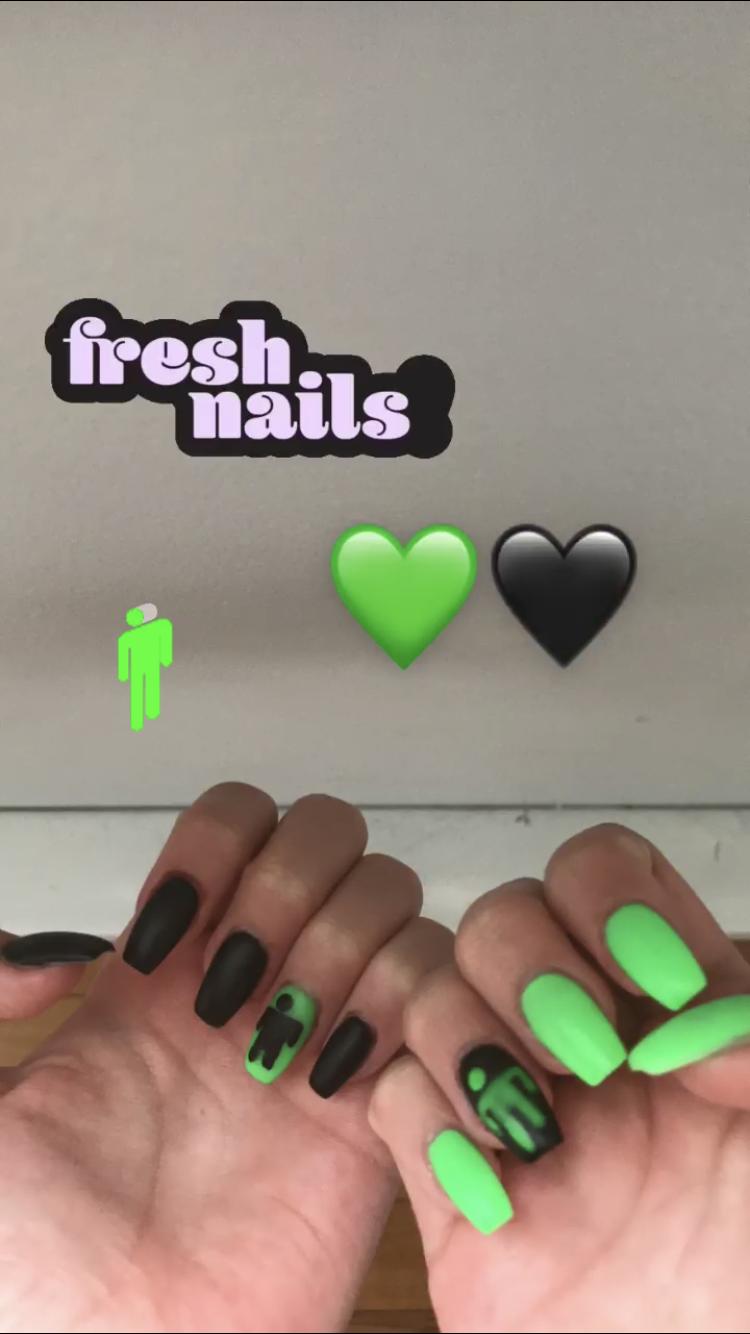 Blosh Nails Neon Green Nails Best Acrylic Nails Ombre Acrylic Nails