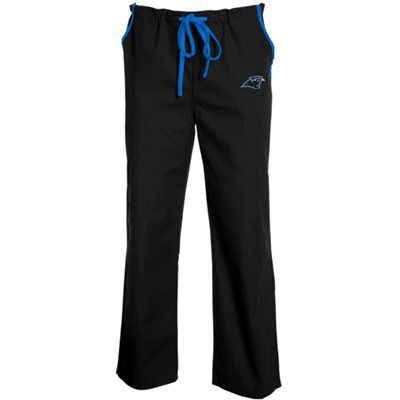 Carolina Panthers Unisex Solid Scrub Pants - Black