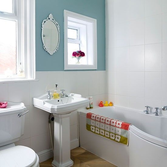 Duck Egg Blue And White Bathroom Ideal Home Duck Egg Blue Bathroom White Bathroom Big Bathroom Decor