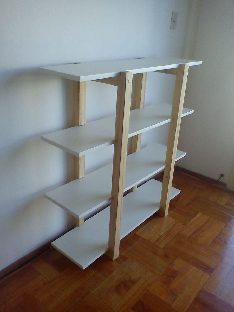 Biblioteca en madera maciza madeira pinterest - Estanterias en madera ...