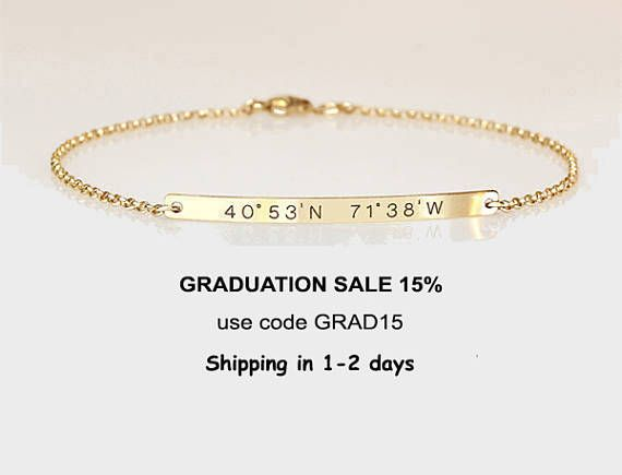 Graduation Gift For Her Engraved Bracelet With