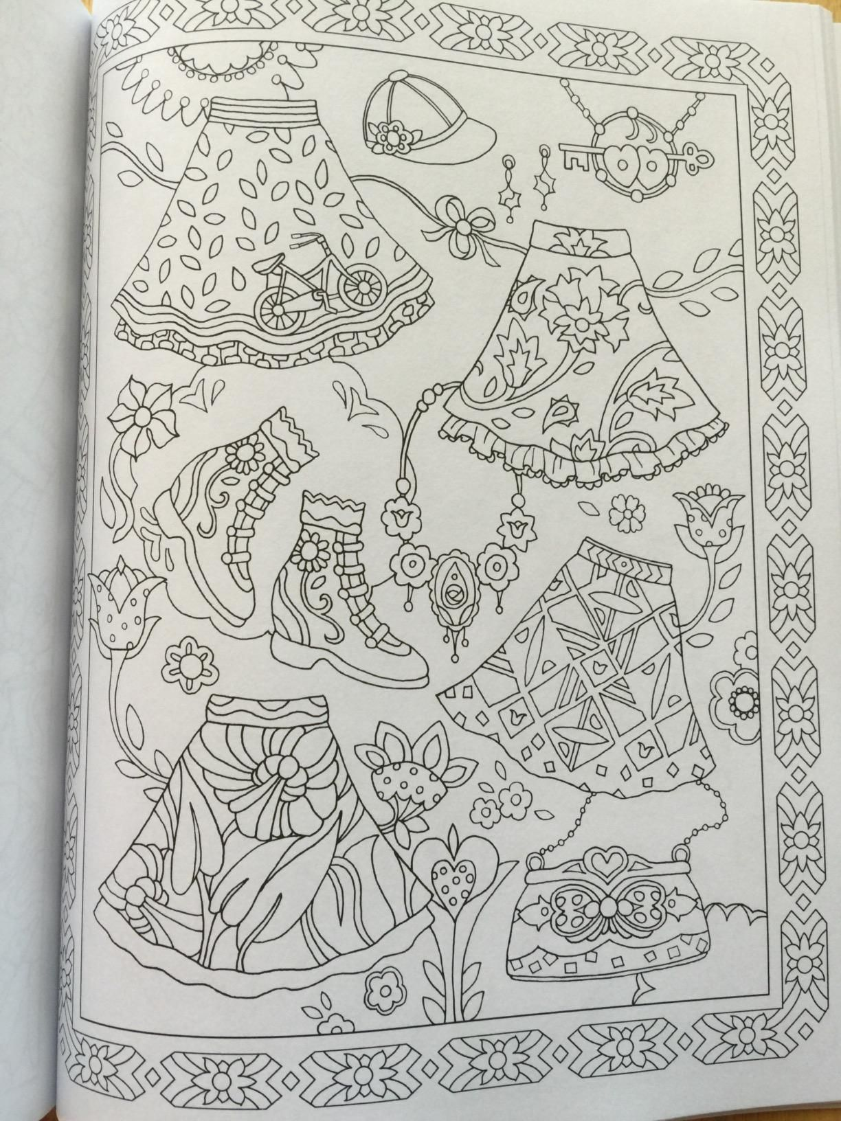 Fanciful Fashions Coloring Book Marjorie Sarnat Amazon Books