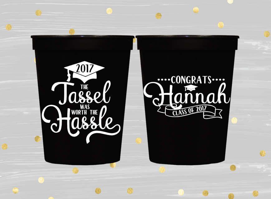 2019 Graduation Party Favors Grad Party College Graduation Cups Personalized Cups Graduation Decor Tassel Cups Graduate Cups Stadium Cups
