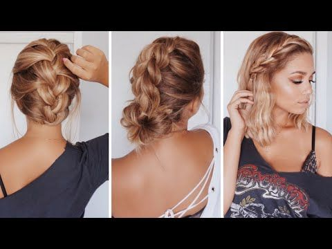 Easy Hairstyles For Medium Length Hair Awesome 3 Easy Hairstyles For Shortmedium Length Hair  Ashley Bloomfield