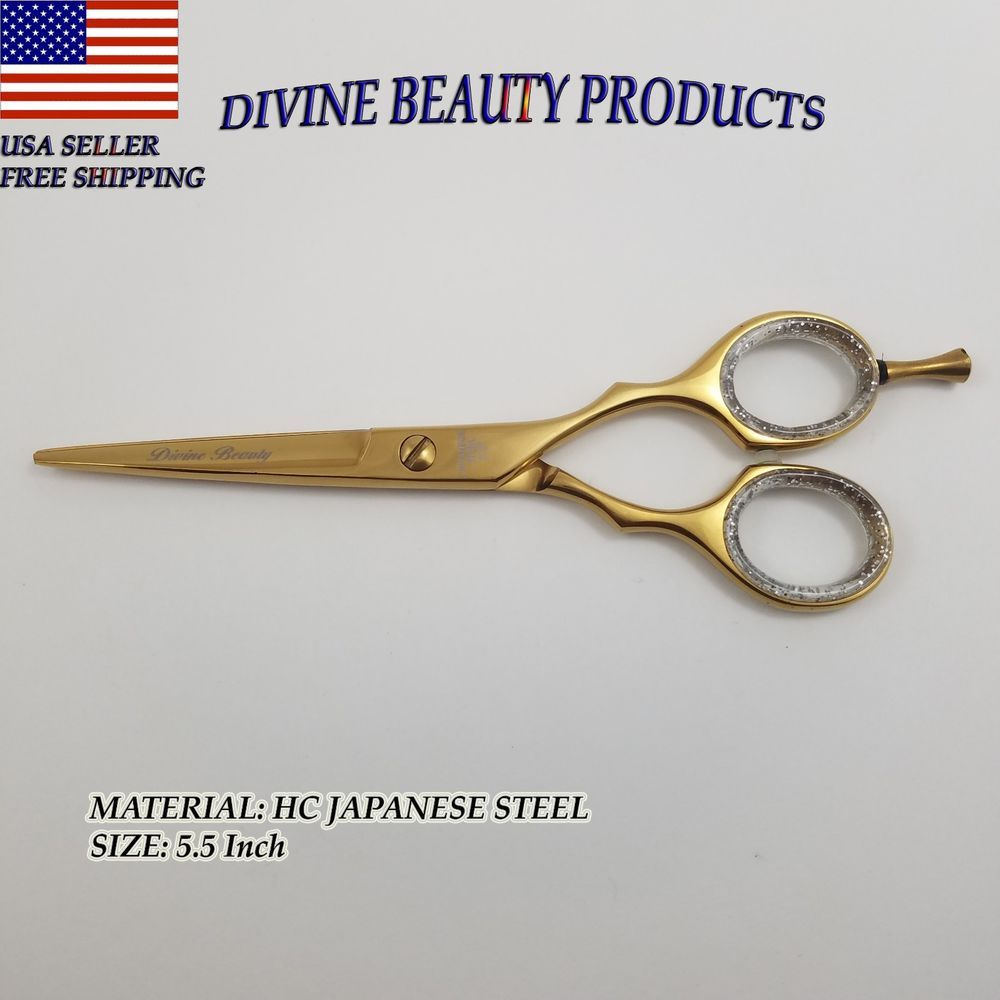 5.5 Inch Hair Cutting Scissors Hairdressing Shears Professional Barber Salon  #DivineBeauty