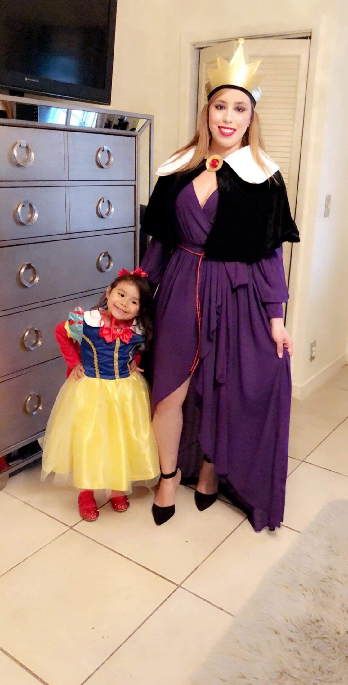 Snow White evil queen mommy and me Halloween costumes idea
