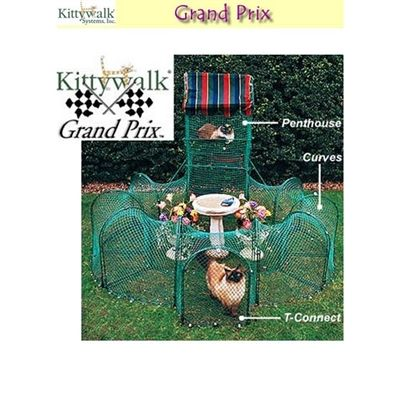 Kittywalk Grand Prix Outdoor Cat Enclosure is an award winning outdoor cat enclosure allows your indoor cat to safely navigate the great outdoors... Your cats will never get enough!