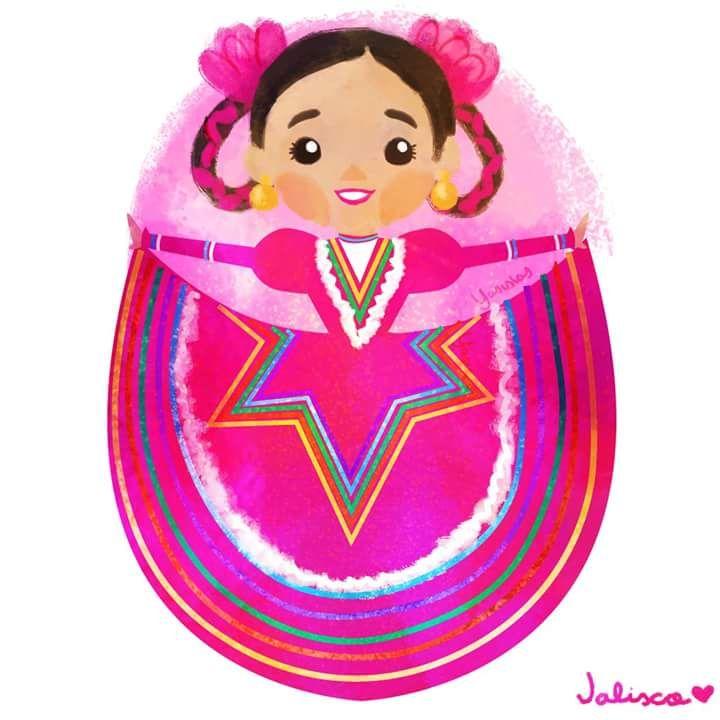 Folklor mexicano - Jalisco Suivre @mexartfr sur Fb, Etsy et ...