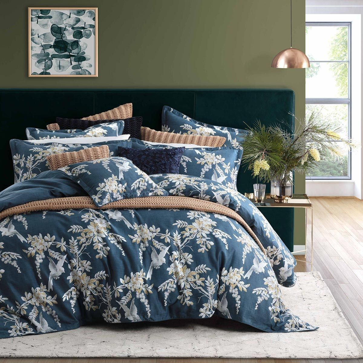Empire Damask Duvet Quilt Cover Bedding Set Single Double King and Super King