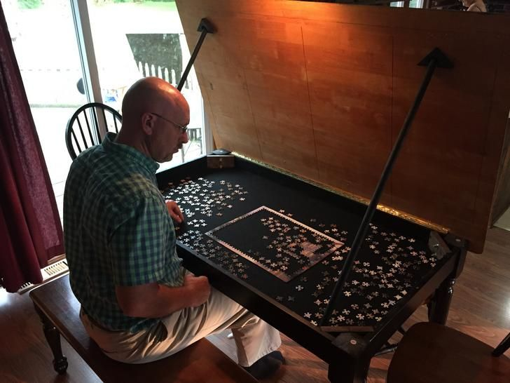 Hidden Puzzle Table With Images Puzzle Table Diy Dining Table