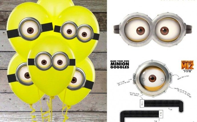 photo relating to Free Printable Minions Eyes named Despicable Me Free of charge Printables Exertion Do it yourself minion birthday