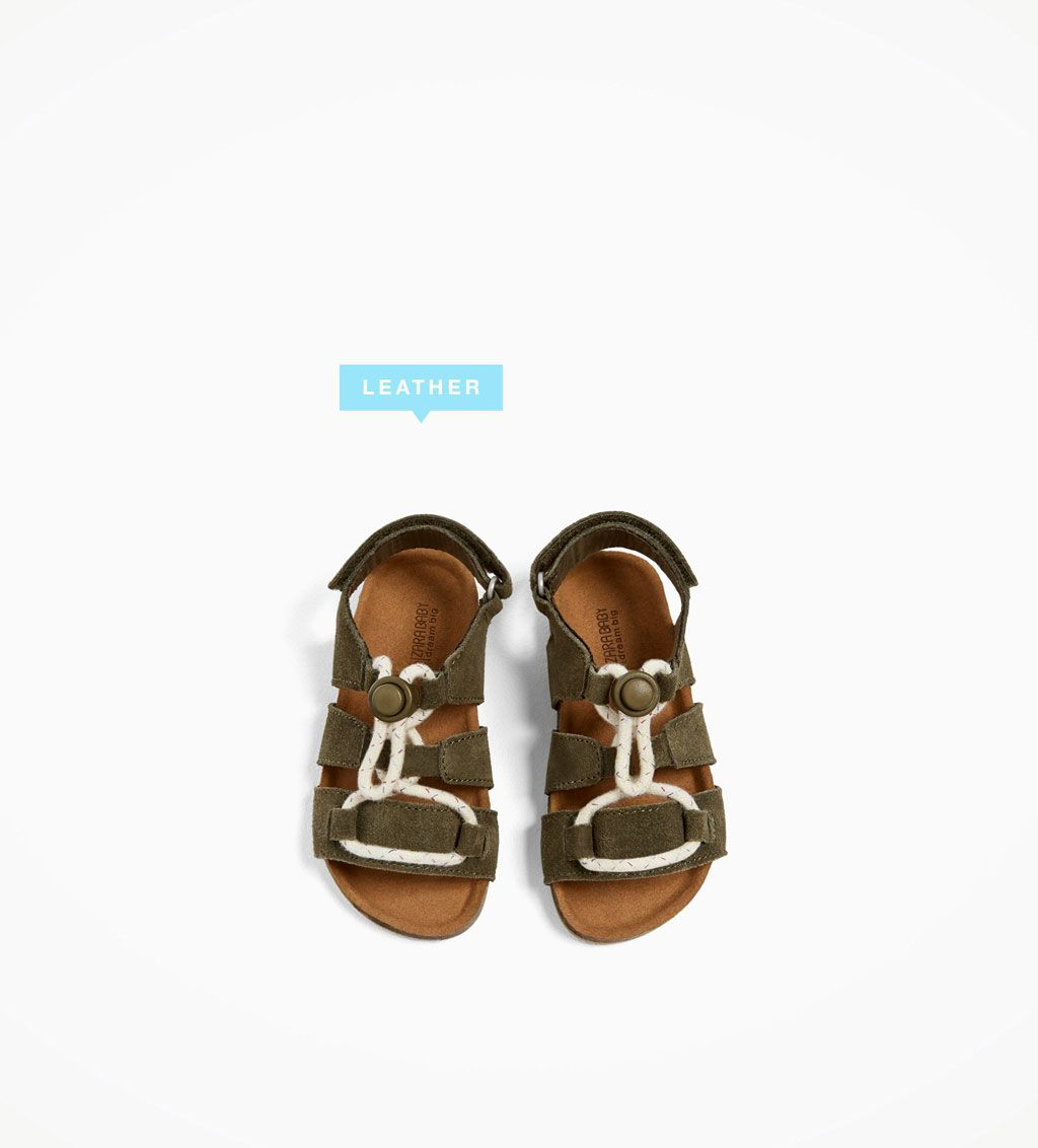 LEATHER SANDALS WITH STOPPER-NEW IN