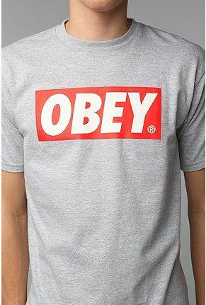 OBEY Bar Logo Tee | list | Bar logo, Graphic tee outfits ...