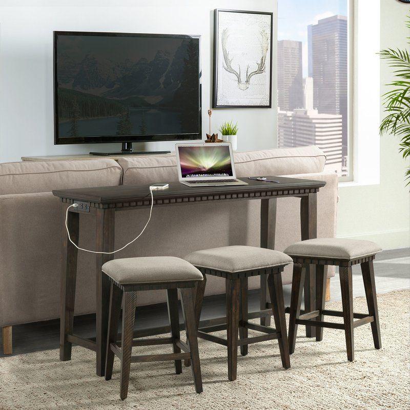 Wondrous Suzann Multi Purpose 4 Piece Pub Table Set Home Theater Cjindustries Chair Design For Home Cjindustriesco