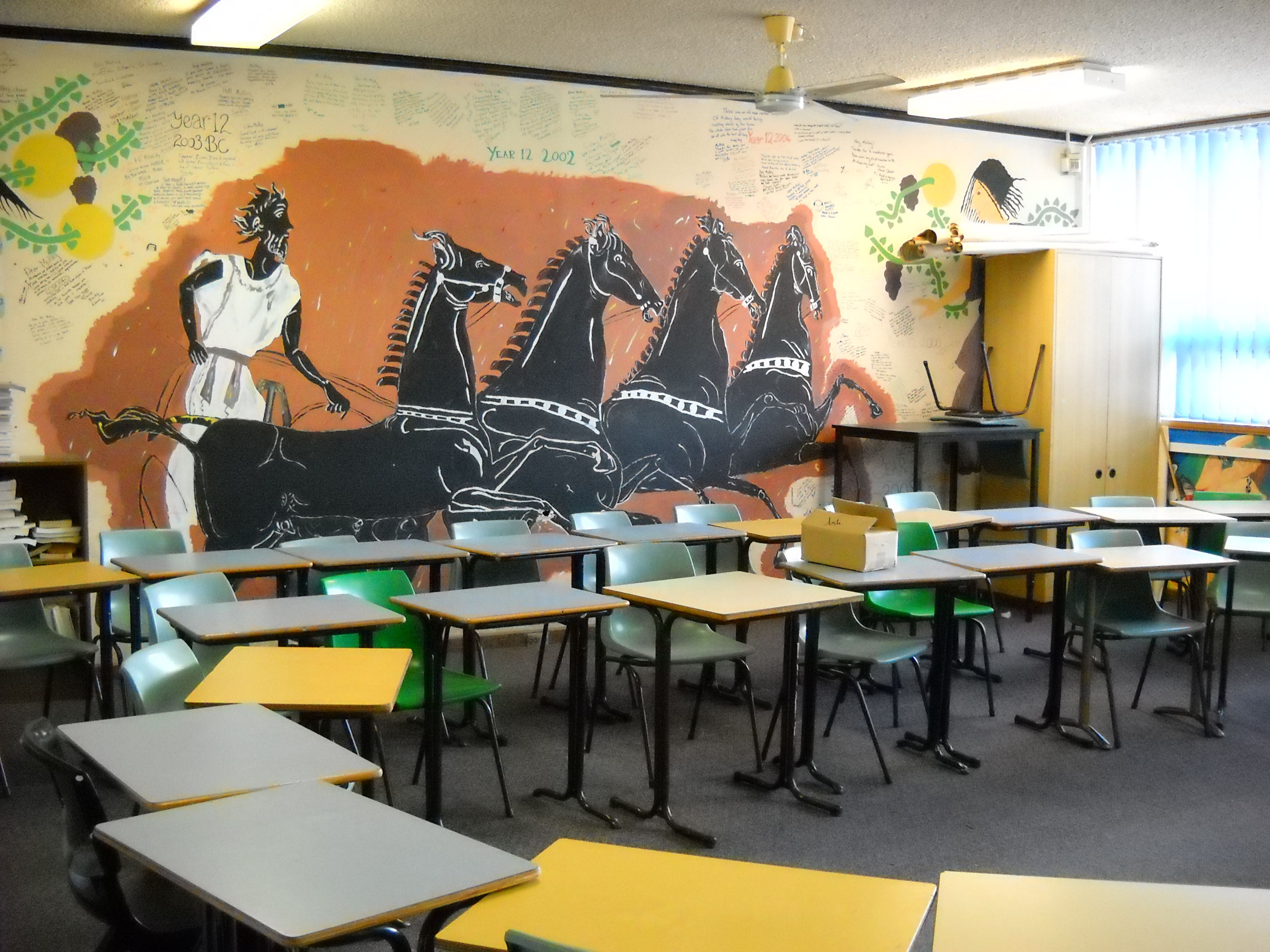 Sweet greek backdrop for world history classroom ss for Ancient greek decoration