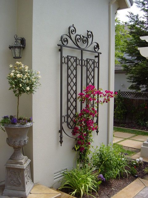Large Scale Decorative Iron Trellis For A House Wall With Images