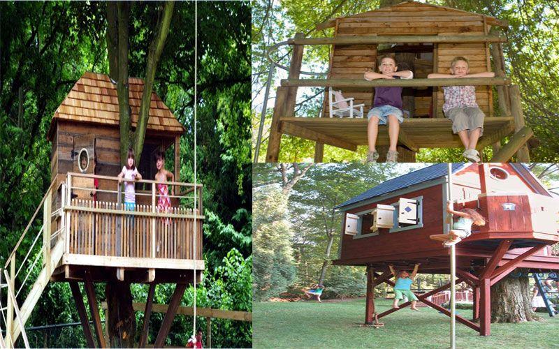 A Tree House Making Cool Backyard.   Kid friendly backyard ...