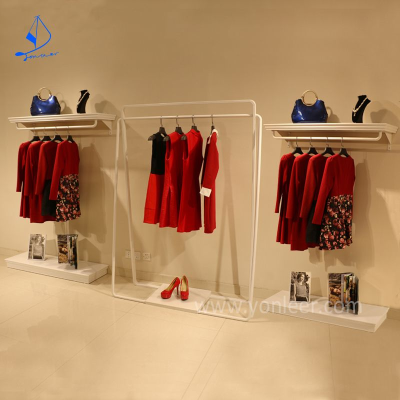 department stores stainless steel wall mounted clothes