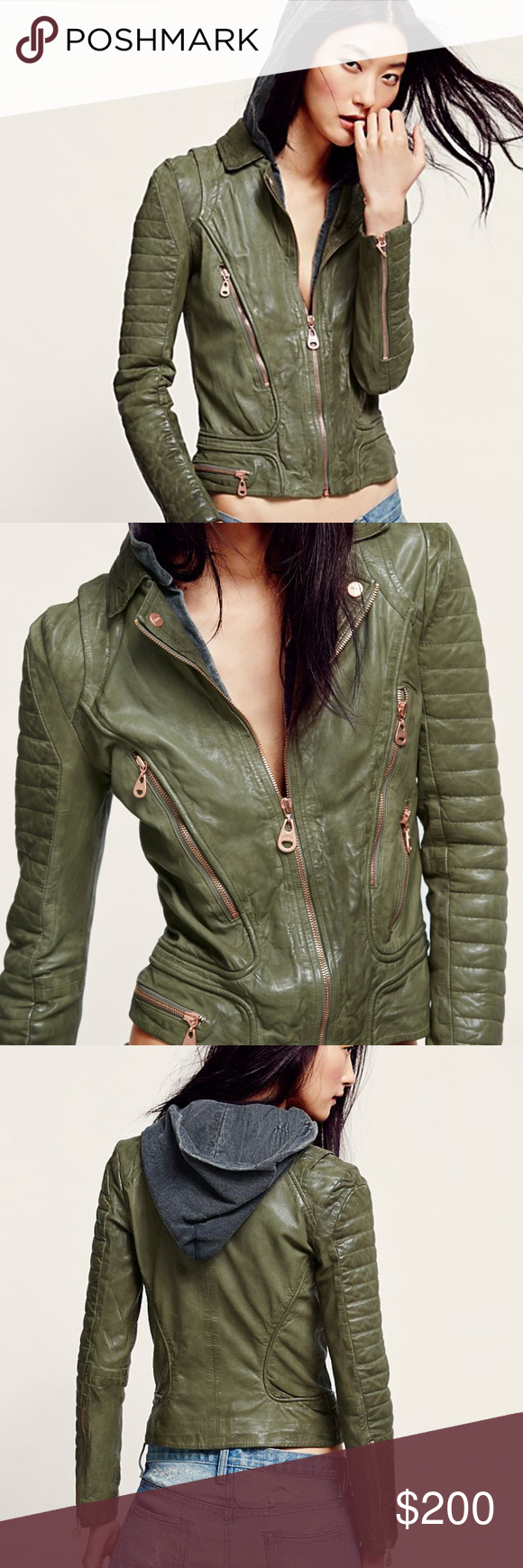 Iso Doma Free People Green Leather Jacket Hood S M Green Leather Jackets Olive Green Leather Jacket Jackets [ 1740 x 580 Pixel ]
