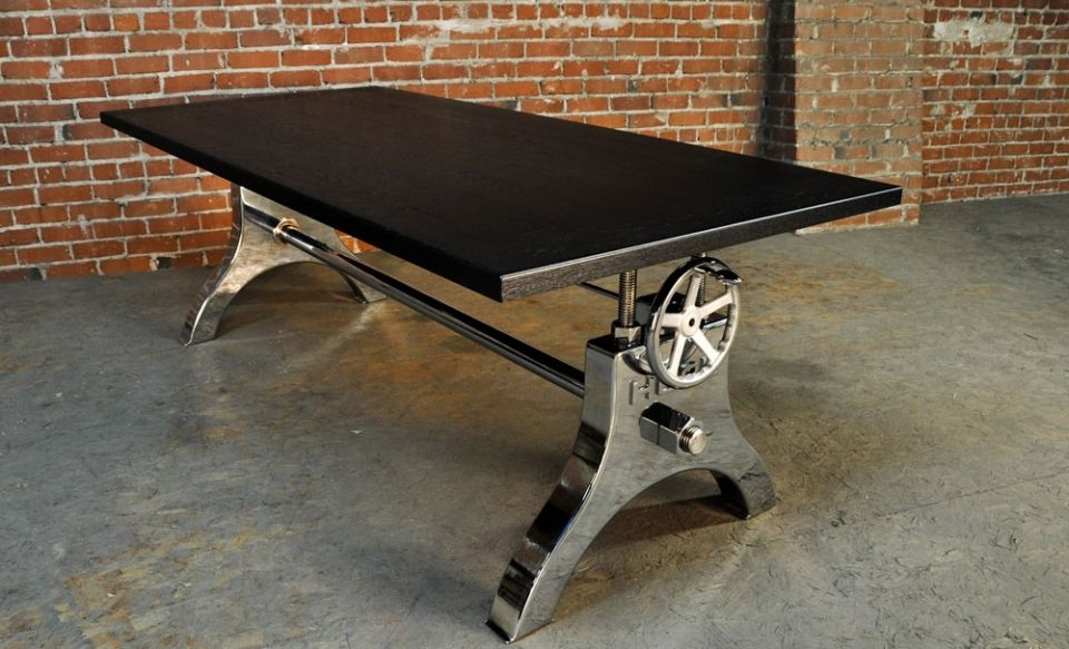 Vintage Industrial Crank Tables are perfect for classic and modern