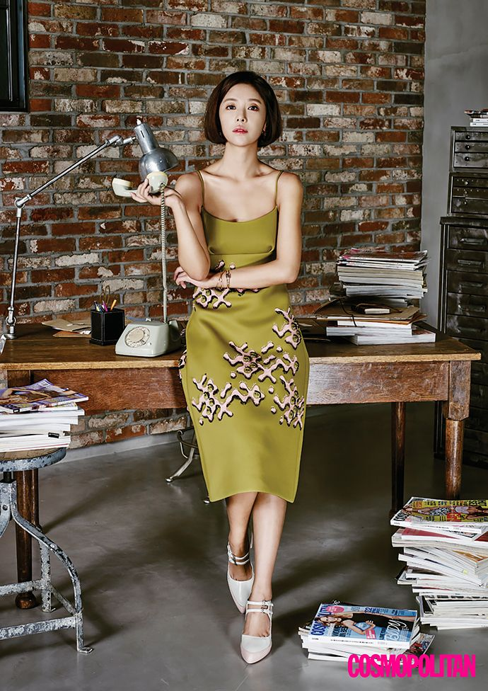 "The cast of new drama ""She Was Pretty"" Hwang Jung Eum, Park Seo Joon, Go  Joon Hee, and Choi Siwon for Cosmopolitan Korea"