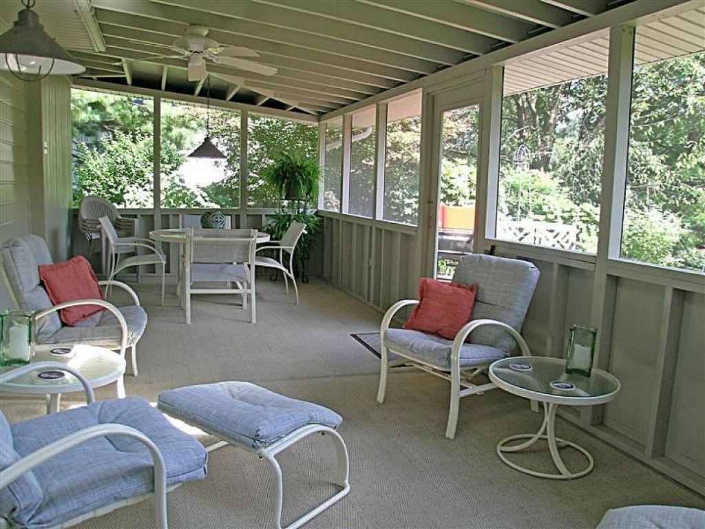 House design antique ideas screened in porches with for Backyard screening ideas