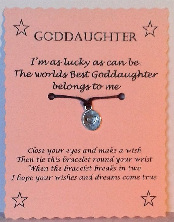 goddaughter gift goddaughter bracelet string wish by gemsnjewells