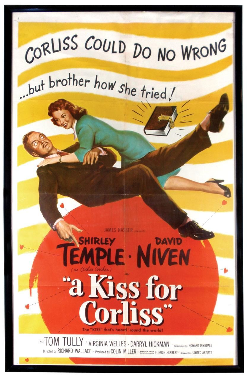 A Kiss For Corliss 1949 Shirley Temple David Niven Tom Tully