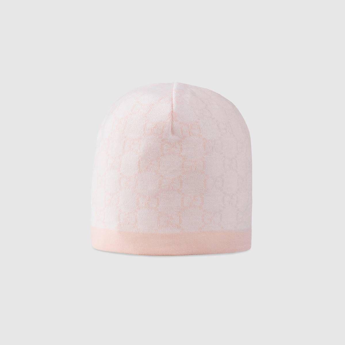 8fe2f3789a1 Baby GG pattern wool hat