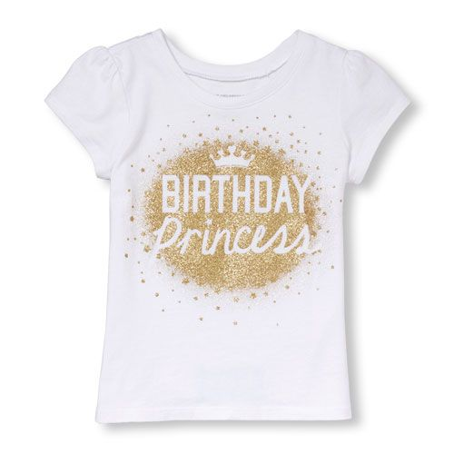 Shirt Zoom Boy Childrens Place S Toddler Short Sleeve Birthday Princess Glitter Graphic Tee