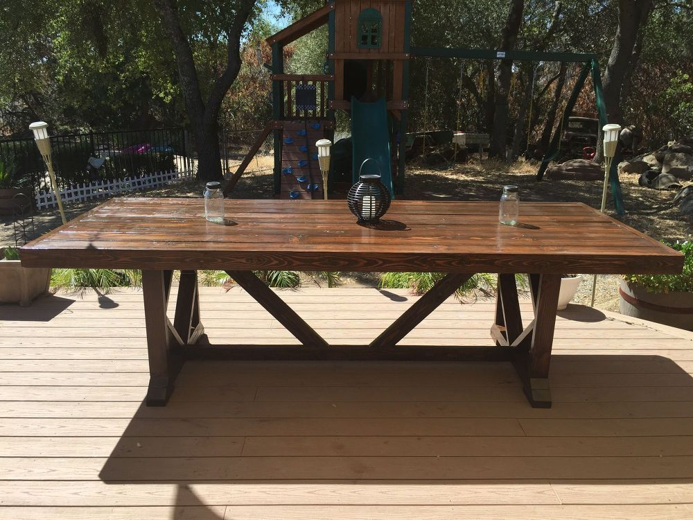 Remarkable Diy Large Outdoor Dining Table Seats 10 12 Daves To Do Download Free Architecture Designs Terstmadebymaigaardcom