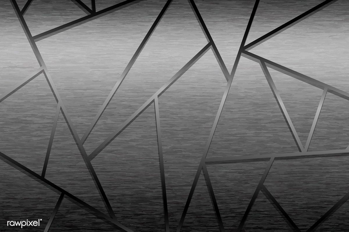 Black Geometrical Shaped Background Vector Free Image By
