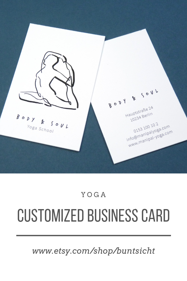 Visitenkarte Yoga Health Body Business Card