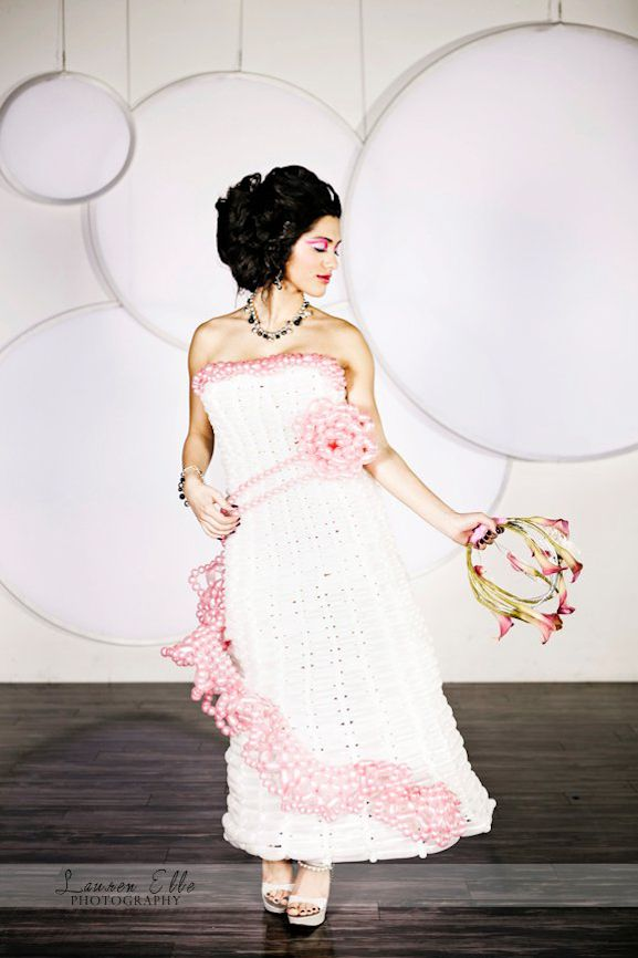 A wedding dress made of...balloons? (Photo by @LaurenElle, Concept by @TOProject)