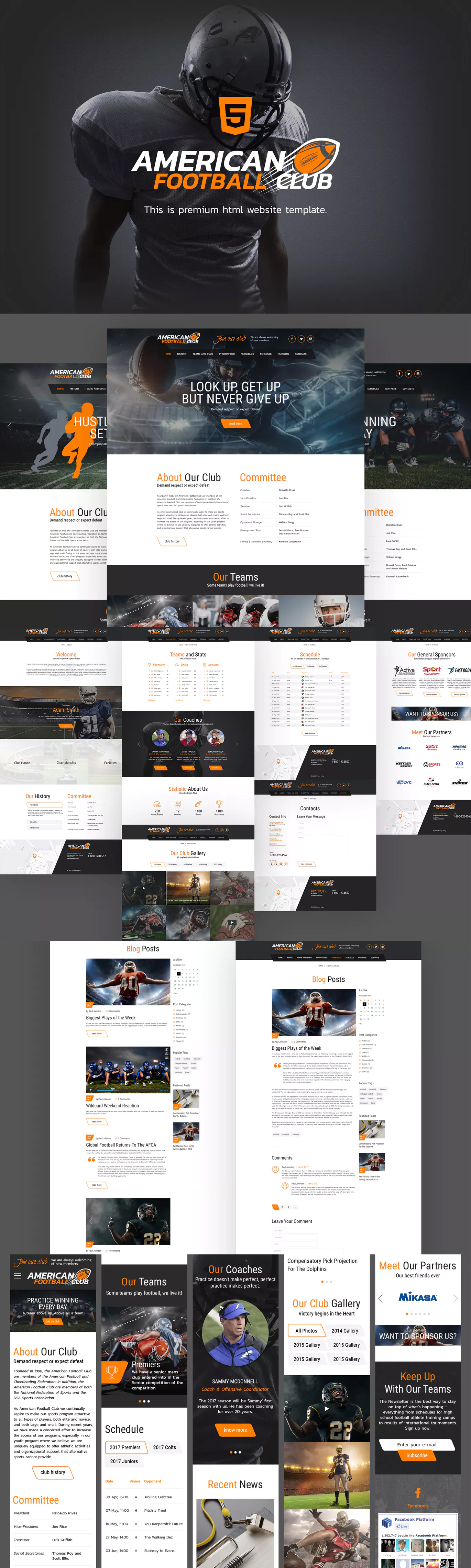 American Football Website Template HTML   HTML Website Templates ...