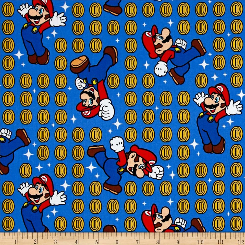 Kaufman bouffants amp broken hearts girls red fabric by the yard - Licensed By Nintendo To Springs Creative Products This Cotton Print Is Perfect For Quilting Apparel And Home D Cor Accents Colors Include Blue Red