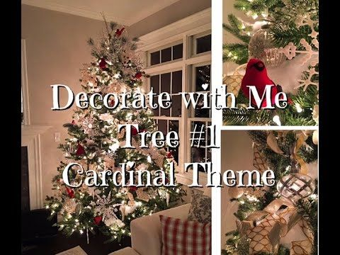 Youtube Video Instead Of Attaching Ribbon Garlands To Her Tree She Attaches Rin Ribbon On Christmas Tree Flocked Christmas Trees Dollar Tree Christmas Decor