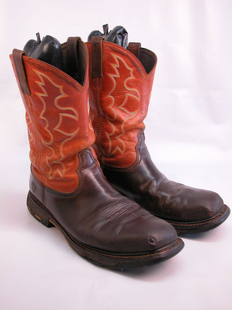 581e162c997 Mens ARIAT 6961 Work Square Steel Toe Western Work Boots Sz 13 D ...