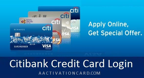 Citibank Credit Card Login Citibank Credit Card Aactivationcard