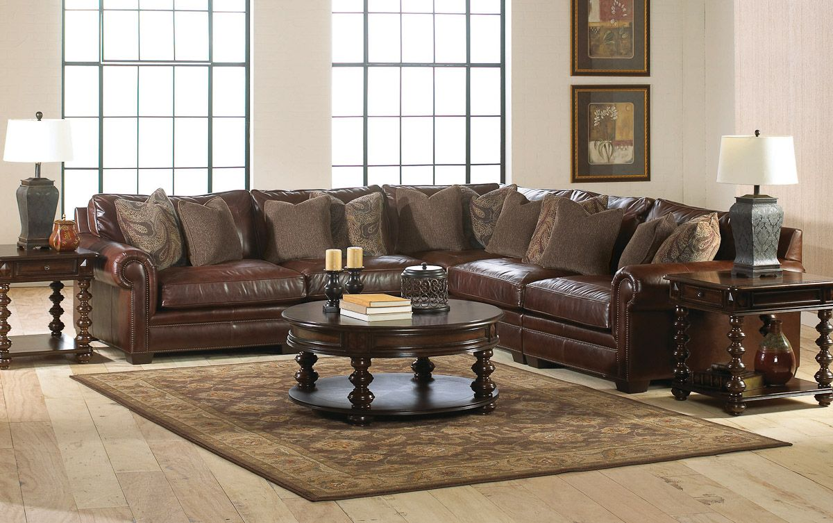 Living Room Leather Sectionals bernhardt grandview sectional | living in leather | pinterest