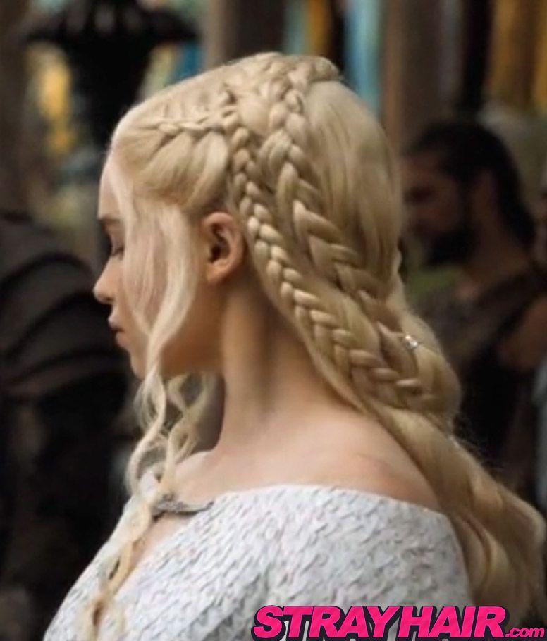 Game Of Thrones Emilia Clarke Braided Hairstyle Braided Hairstyles Medieval Hairstyles Competition Hair