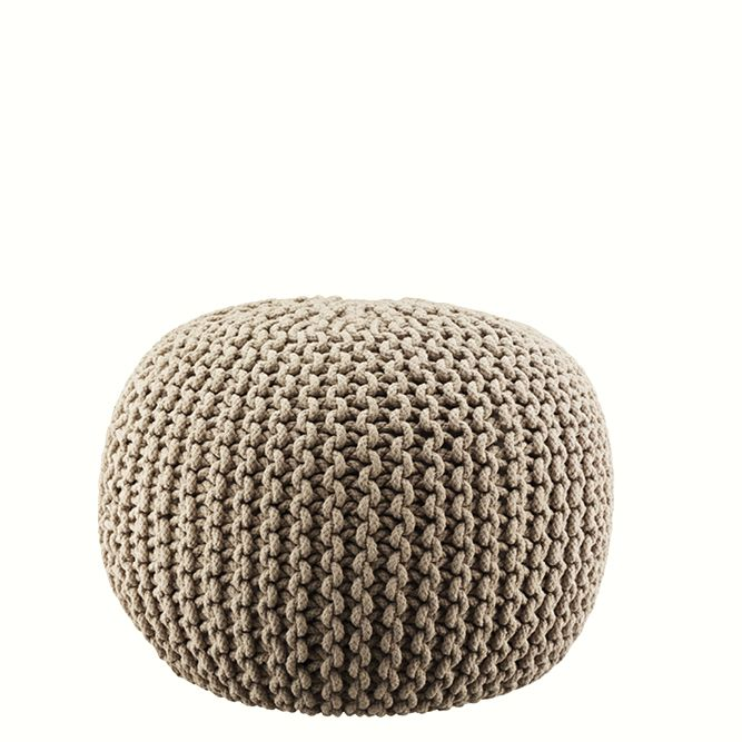 Lob Design Pouf.Knitted Pouff Beige Lob Design Lob Interior