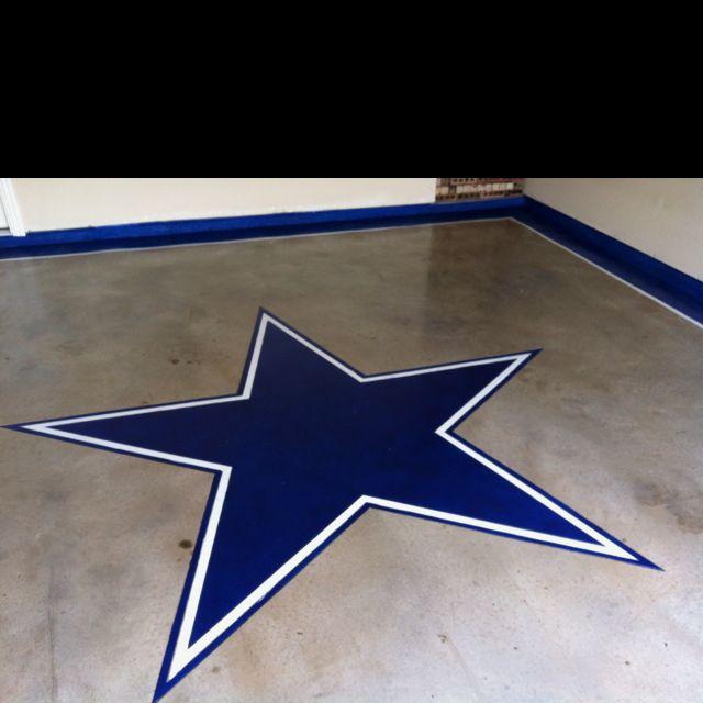 New Garage Flooring: My New Stained Garage Floor! Took Me 2 Days.. Go Cowboys