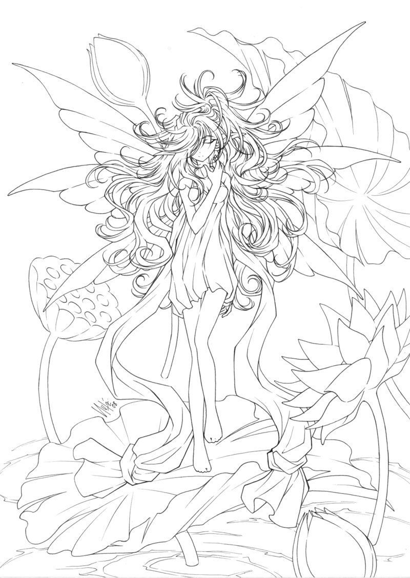 Free Printables: Almost Anime Fairy Coloring Page | Printables ...