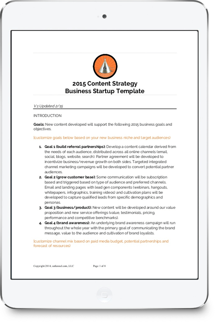 New Content Strategy Template For Startups And Smallbusiness
