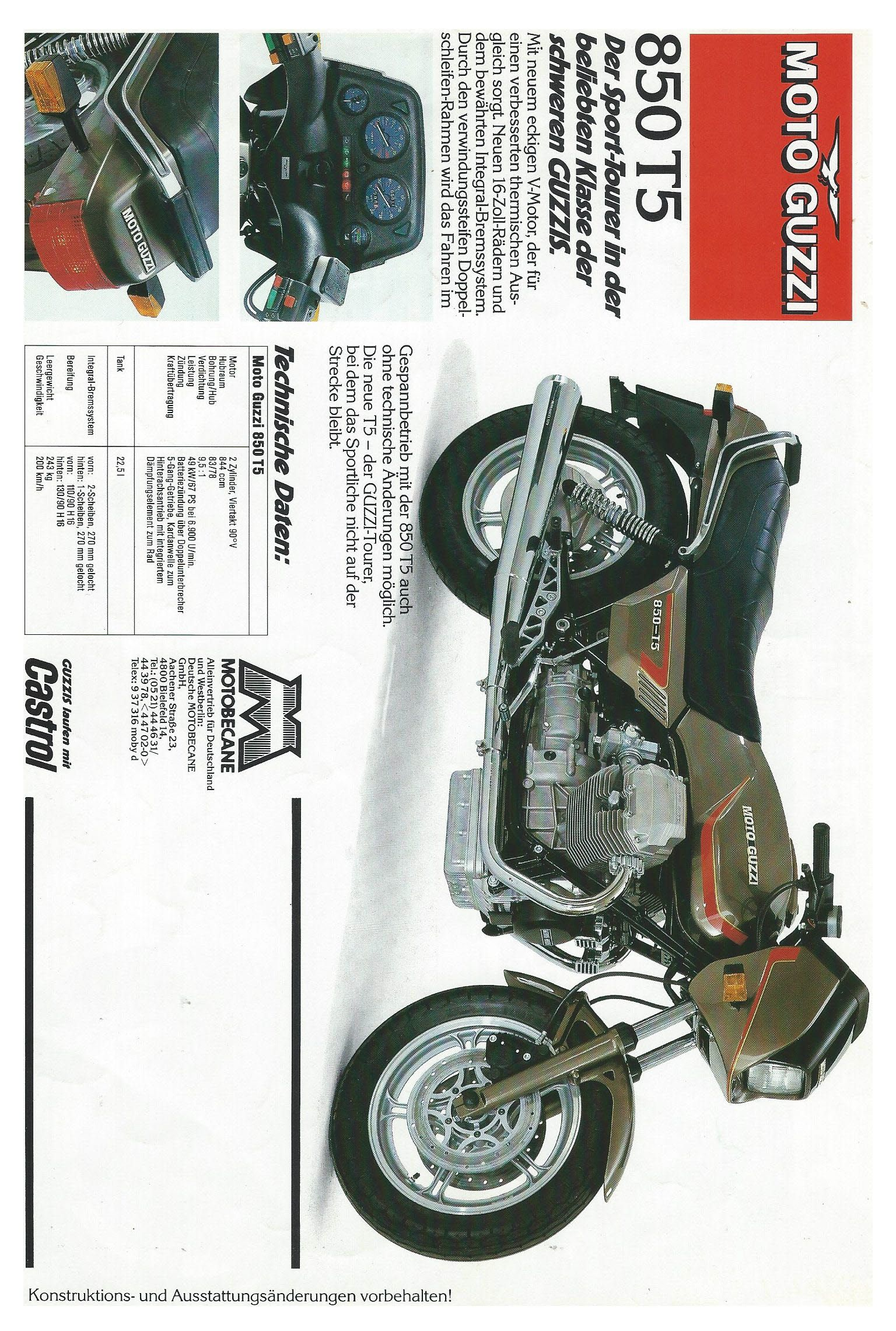 Moto Guzzi California Ii 850t5 Brochure 4 Moto Guzzi Moto